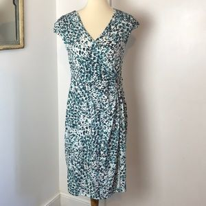 Apt. 9 Faux Wrap Leopard Print Dress M